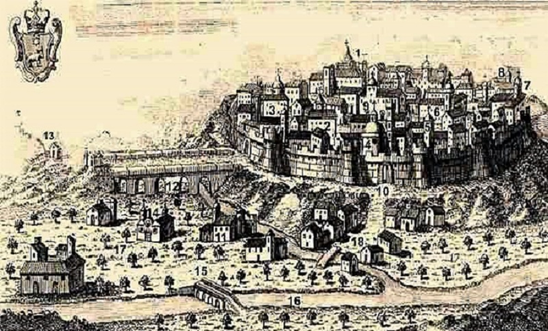 Grabado de la ciudad de Teruel durante la Edad Media