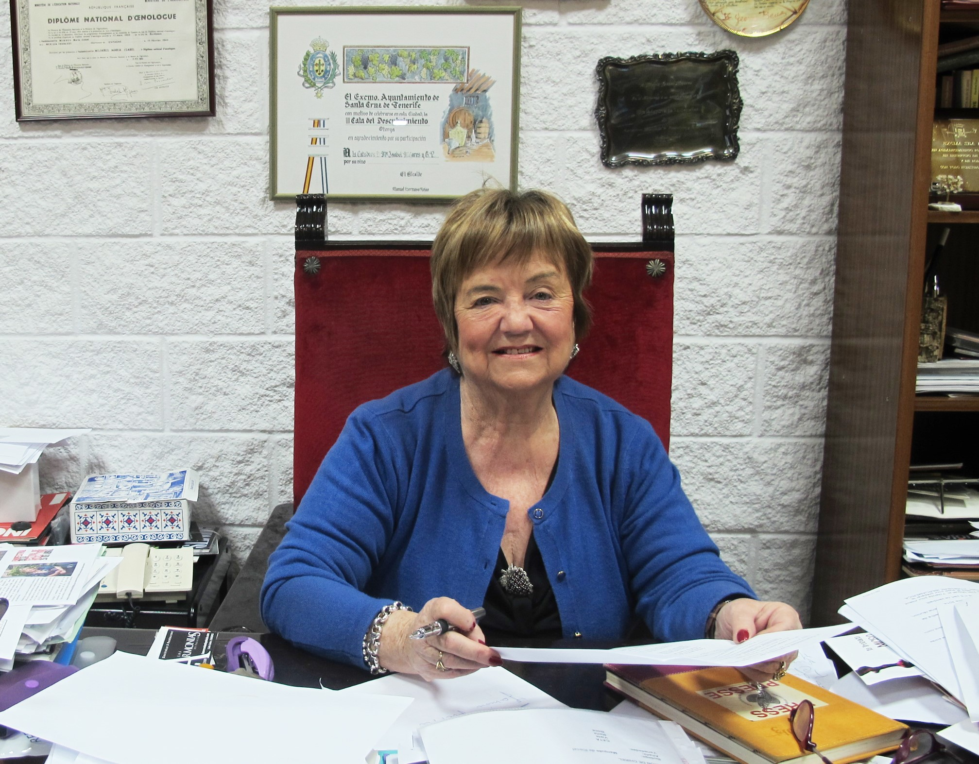 Maria Isabel Mijares en su despacho.